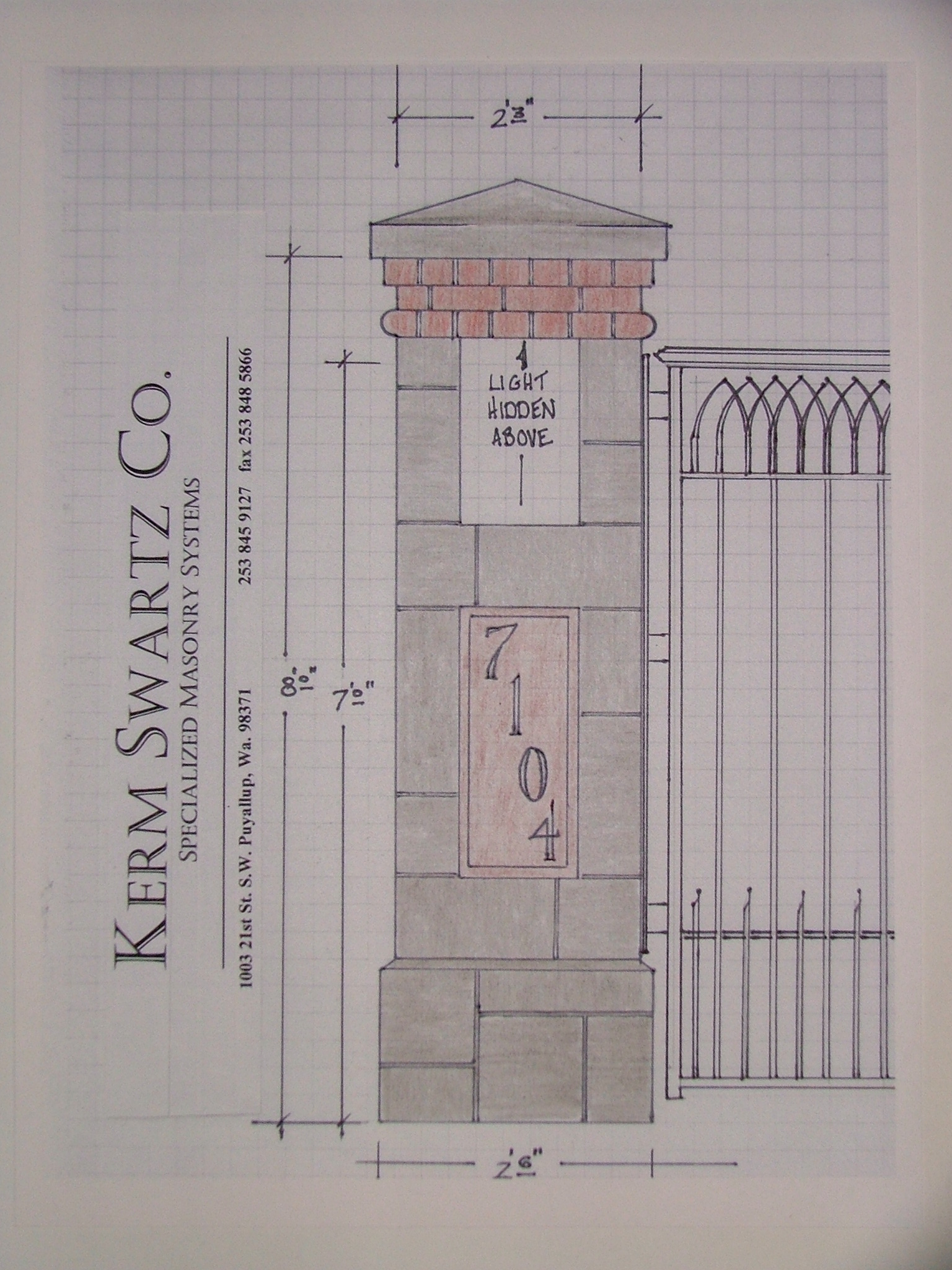 Columns Gates And Balustrades The Kerm Swartz Co